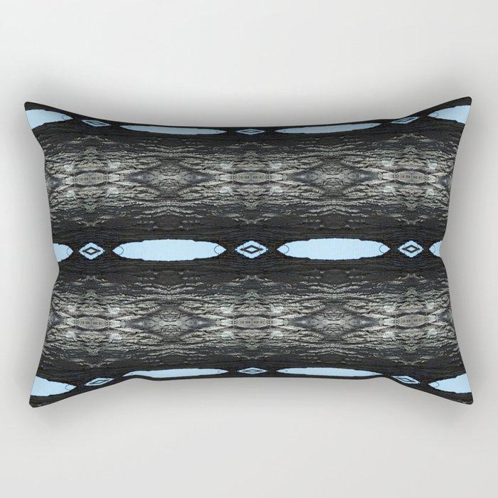 Oak Tree Blue Portal Nature Pattern by Debra Cortese Designs Rectangular Pillow