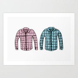 Flannel shirts Art Print