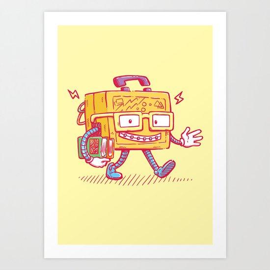 Back to School Lunchpail Bot Art Print