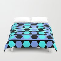 polygon Duvet Covers featuring Polygon by NoMoreWinters