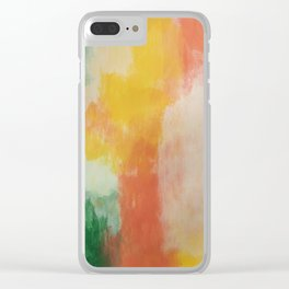 multi color wall art Clear iPhone Case