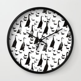Geese and ducks. Wall Clock