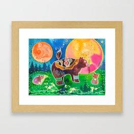 Family bear - animal - by LiliFlore Framed Art Print