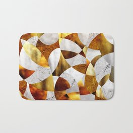 Curves - Silver and Gold Bath Mat