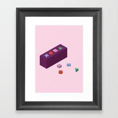 PAUSE – Building Blocks Framed Art Print