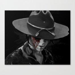 """Dad?"" - The Walking Dead Canvas Print"