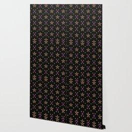 Festive Bright Starry Tracery Wallpaper