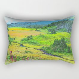 Alaska's Kenai Peninsula - Watercolor Rectangular Pillow