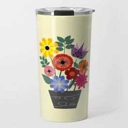 Spring flowers in vase Travel Mug