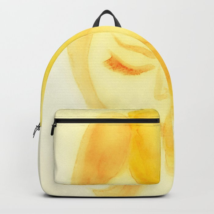 Shy in Yellow Backpack