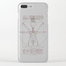 Da Vinci's Real Screw Invention Clear iPhone Case