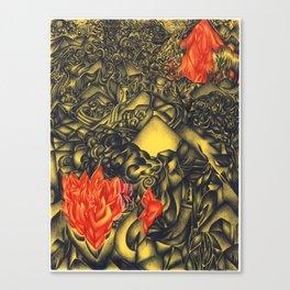 Burning Mountain Canvas Print