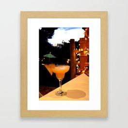 Umbrella Drink Framed Art Print