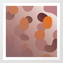 simple choco Dots Art Print