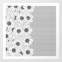 Daisy Grid on Side Art Print