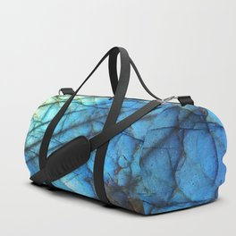 Royal Labradorite Crystal Agate Gemstone Print Duffle Bag