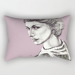 Coco portrait with pearls Rectangular Pillow