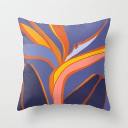 Bird Of Paradise Tropical Flower Throw Pillow