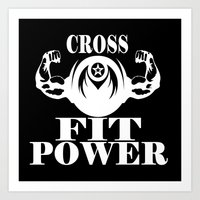 crossfit Art Prints featuring CROSSFIT POWER  by Robleedesigns