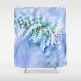 Bitter Cold, Creamy Colors Shower Curtain