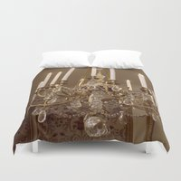 chandelier Duvet Covers featuring Chandelier by Pati Designs