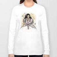 sarah paulson Long Sleeve T-shirts featuring Sarah  by Karen Hallion Illustrations