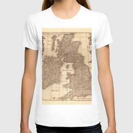 Map Of Great Britain 1631 T-shirt