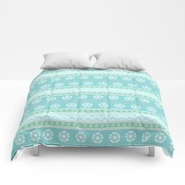 Floral Easter Pattern E Comforters