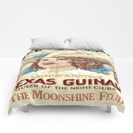 Vintage Western Cowgirl Poster  Comforters