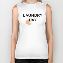 Laundry Day Tomato Sauce Stain on White Tee Biker Tank