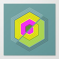 illusion Canvas Prints featuring ILLUSION by d.ts