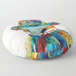 Sock Monkey Art - Your New Best Friend - By Sharon Cummings Floor Pillow