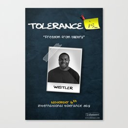 Tolerance Poster 2 Canvas Print