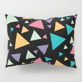 Memphis Milano style pattern with colorful triangles, multicolor triangle pattern print Pillow Sham