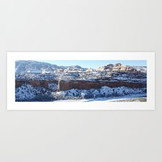 Snowy Canyon Art Print