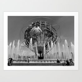 A Dramatic Summer Afternoon in Queens Art Print