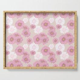 Gerbera daisies in pink Serving Tray