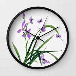 Butterflies and flowers Wall Clock