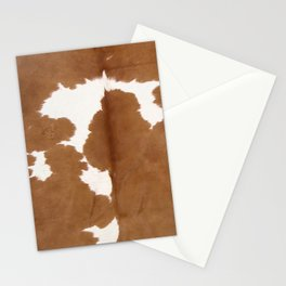 Tan and white cowhide texture Stationery Cards