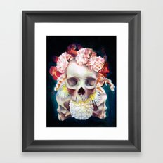 Flowers for Skulls Framed Art Print