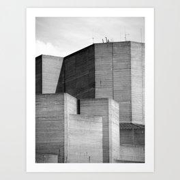 Brutalist Series - National Theatre #2 Art Print