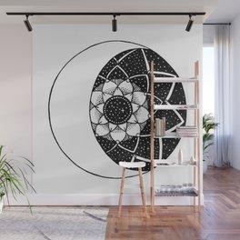 Crescent Moon Mandala Wall Mural