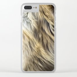 Golden Retriever Fur Clear iPhone Case