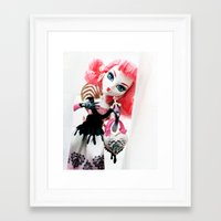 monster high Framed Art Prints featuring Monster High  by Jessica Yakamna