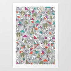 tangram town Art Print