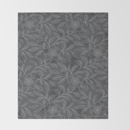Sharkskin Lace Floral Throw Blanket