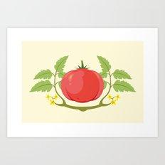 Vegetable Tags: Tomato Art Print