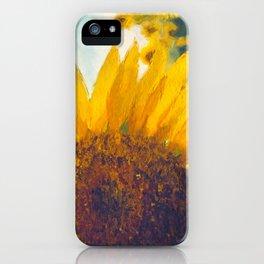 Sunflower Field In Late Summer iPhone Case