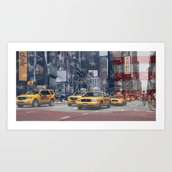 NYC - Yellow Cabs Art Print