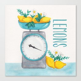 Lemon Kitchen Scale 2 Canvas Print